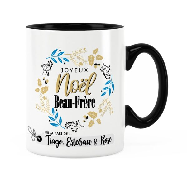 Cadeau noël beau-frère | Idée cadeau mug joyeux noël prénom