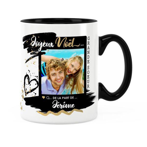 Cadeau grande-sœur pour noël | Idée cadeau mug photo et prénom