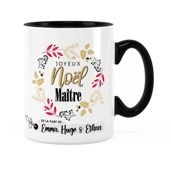 Cadeau noël maître | Idée cadeau mug joyeux noël prénom