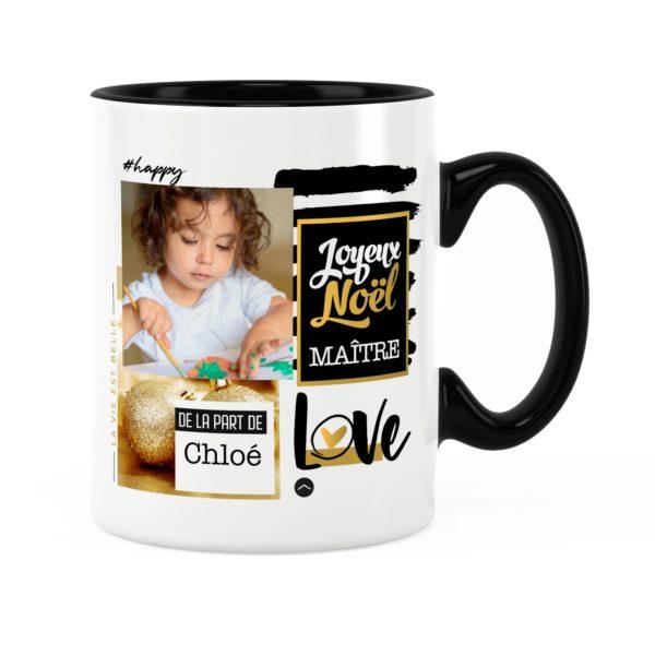 Cadeau maître pour noël | Idée cadeau mug prénom et photo