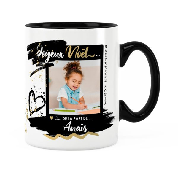 Cadeau maîtresse pour noël | Idée cadeau mug photo et prénom