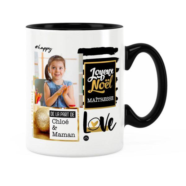 Cadeau maîtresse pour noël | Idée cadeau mug prénom et photo