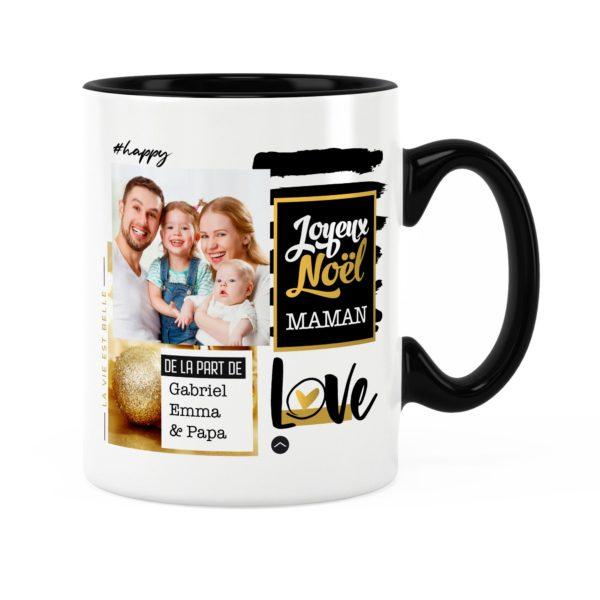 Cadeau maman pour noël | Idée cadeau mug prénom et photo