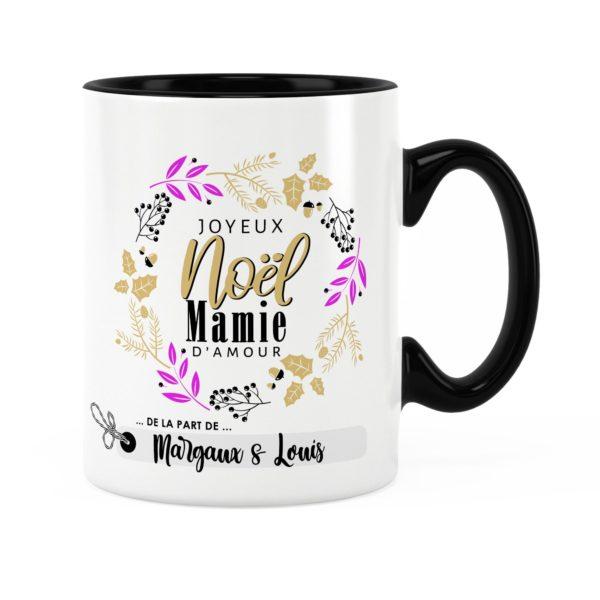 Cadeau noël mamie | Idée cadeau mug joyeux noël avec prénom