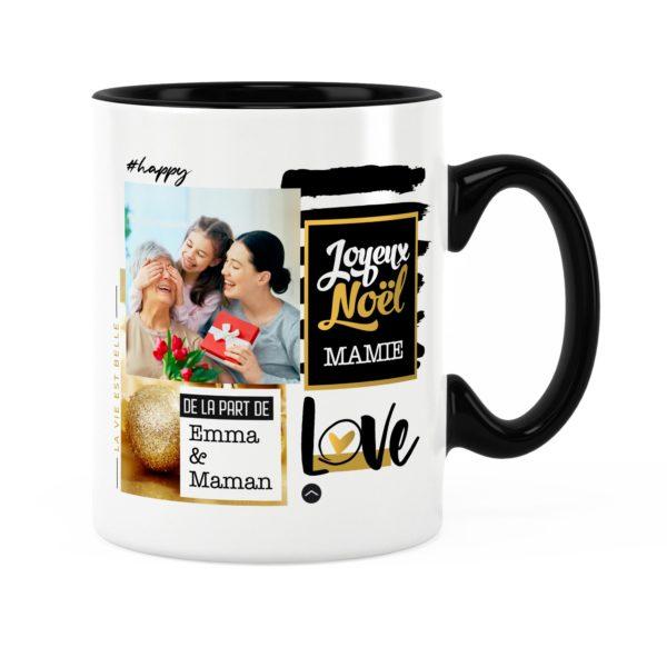 Cadeau mamie pour noël | Idée cadeau mug prénom et photo