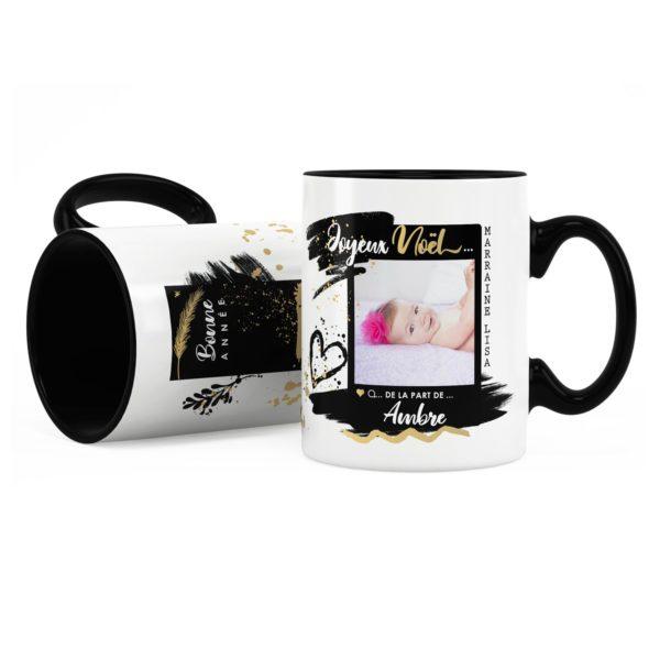 Cadeau marraine pour noël   Idée cadeau mug photo et prénom