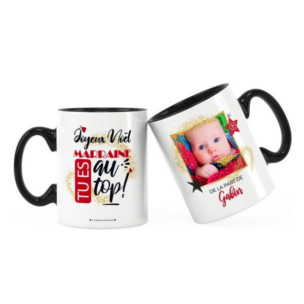 Cadeau marraine pour noël   Idée cadeau mug marraine au top