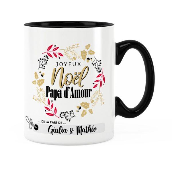 Cadeau noël papa | Idée cadeau mug joyeux noël avec prénom