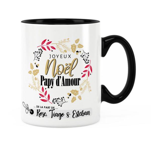 Cadeau noël papy | Idée cadeau mug joyeux noël avec prénom