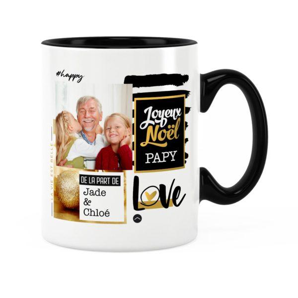 Cadeau papy pour noël   Idée cadeau mug prénom et photo