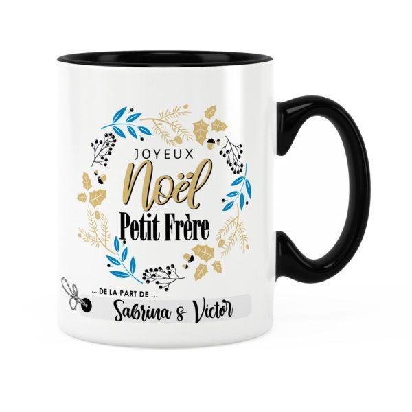Cadeau noël petit-frère | Idée cadeau mug joyeux noël prénom