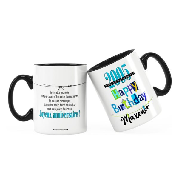 Cadeau anniversaire   Idée cadeau mug anniversaire garçon
