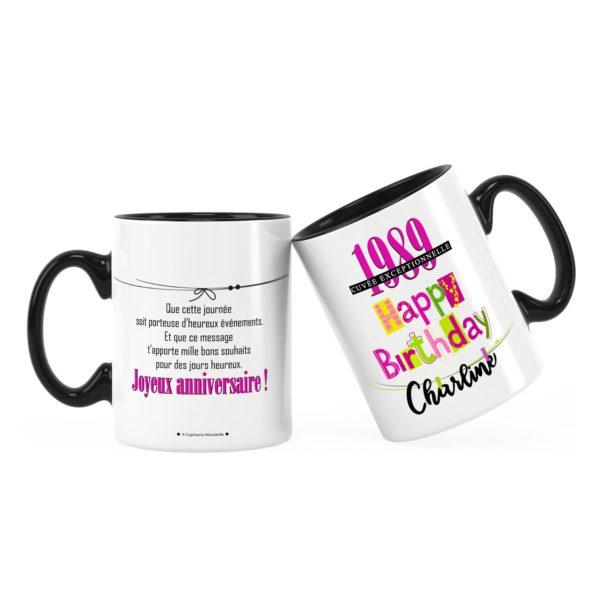 Cadeau anniversaire   Idée cadeau de mug anniversaire fille