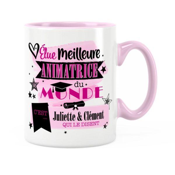 Cadeau animatrice | Idée cadeau mug élue meilleure animatrice