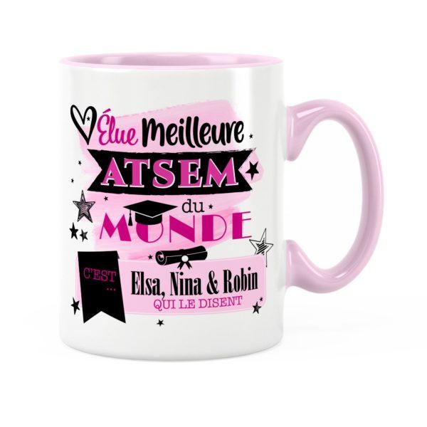 Cadeau atsem | Idée cadeau mug élue meilleure atsem du monde