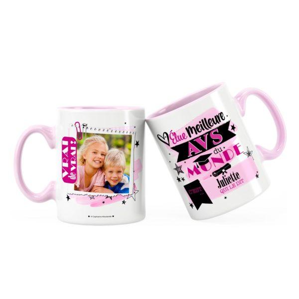 Cadeau avs   Idée cadeau mug élue meilleure avs du monde