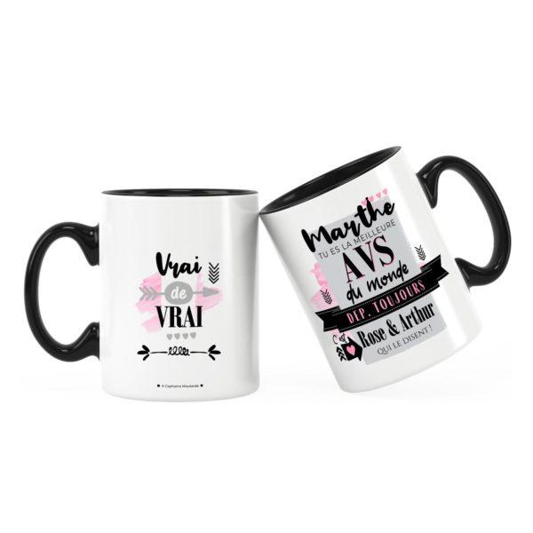 Cadeau pour avs   Idée cadeau mug prénom meilleure avs