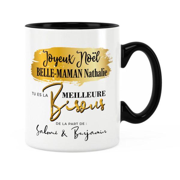 Cadeau noël belle-mère | Idée cadeau mug joyeux noël avec prénom