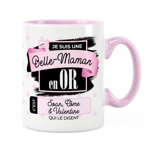 Cadeau belle-mère   Idée cadeau mug prénom belle-mère en or