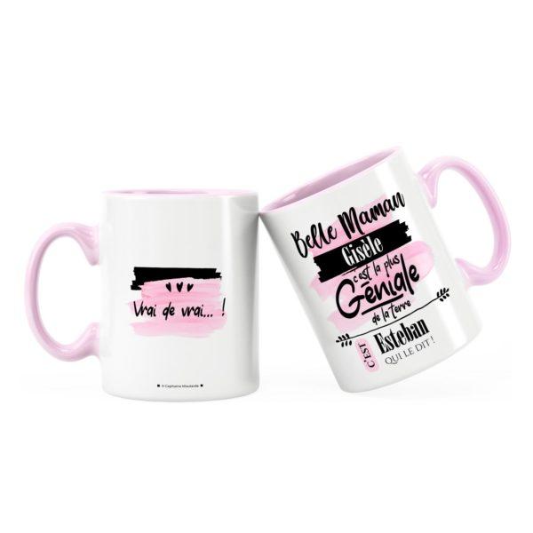 Cadeau belle-mère   Idée cadeau mug prénom belle-mère géniale