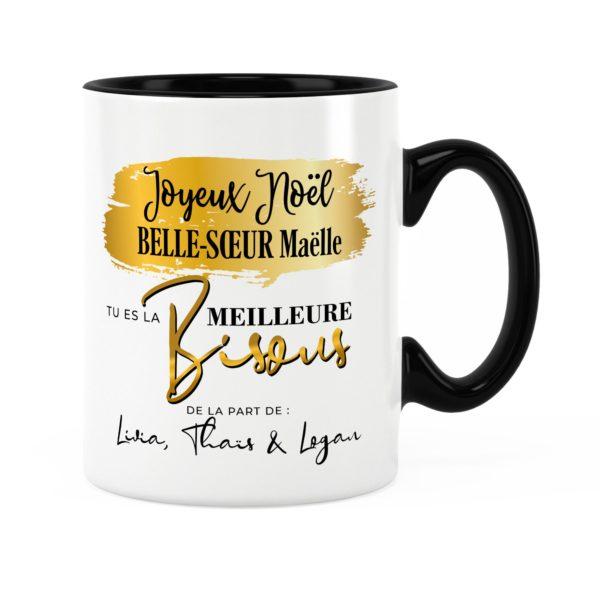 Cadeau noël belle-soeur | Idée cadeau mug joyeux noël avec prénom