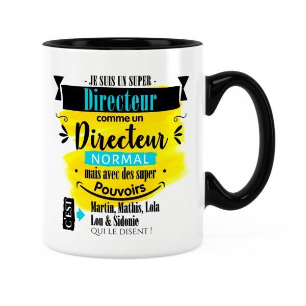 Cadeau directeur | Idée cadeau mug directeur super pouvoir