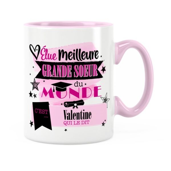 Cadeau grande-sœur | Idée cadeau mug sœur avec prénom