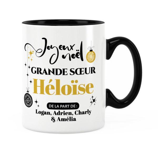 Cadeau noël grande-sœur | Idée cadeau mug de noël avec prénom