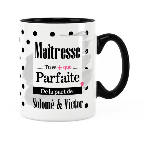 Cadeau maîtresse | Idée cadeau mug prénom maîtresse parfaite