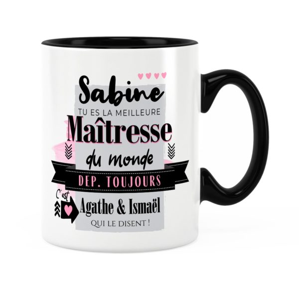 Cadeau maîtresse | Idée cadeau mug pour meilleure maîtresse