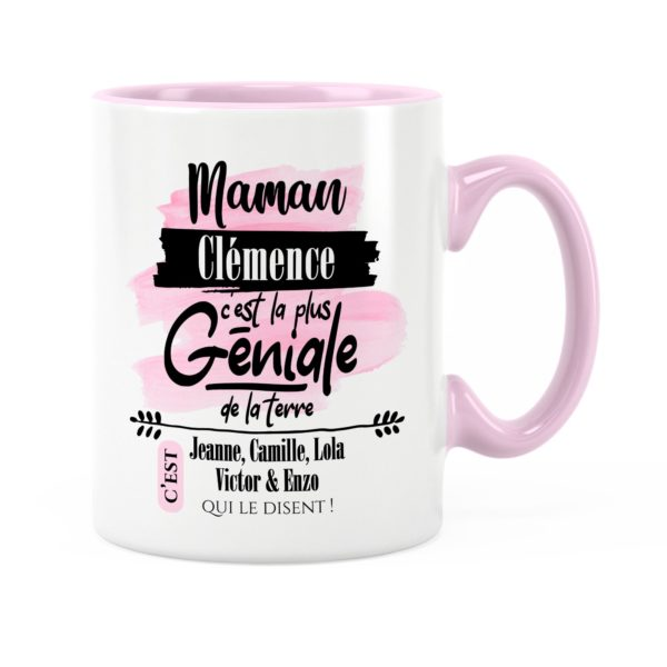 Cadeau maman | Idée cadeau de mug prénom maman géniale