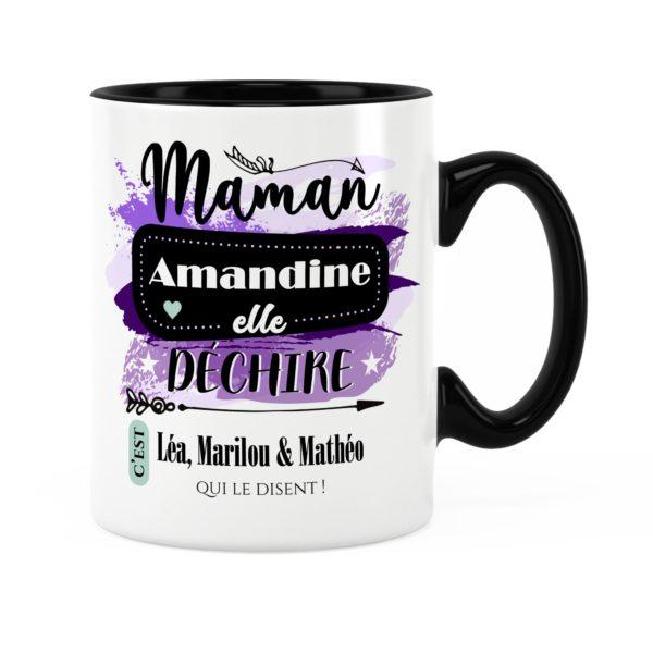 Cadeau maman   Idée cadeau mug prénom maman elle déchire