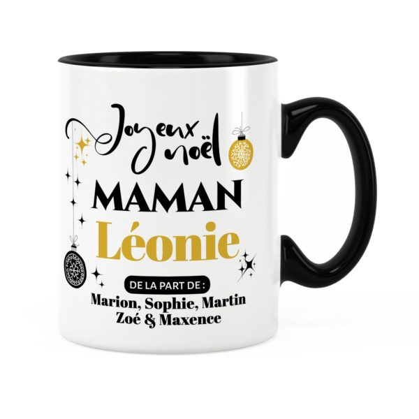 Cadeau pour maman | Idée cadeau mug joyeux noël avec prénom