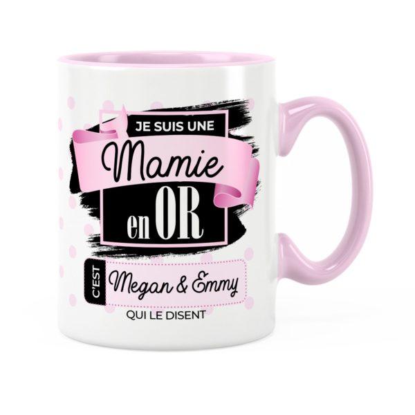 Cadeau mamie | Idée cadeau mug prénom une mamie en or