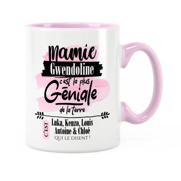 Cadeau mamie | Idée cadeau mug avec prénom mamie géniale
