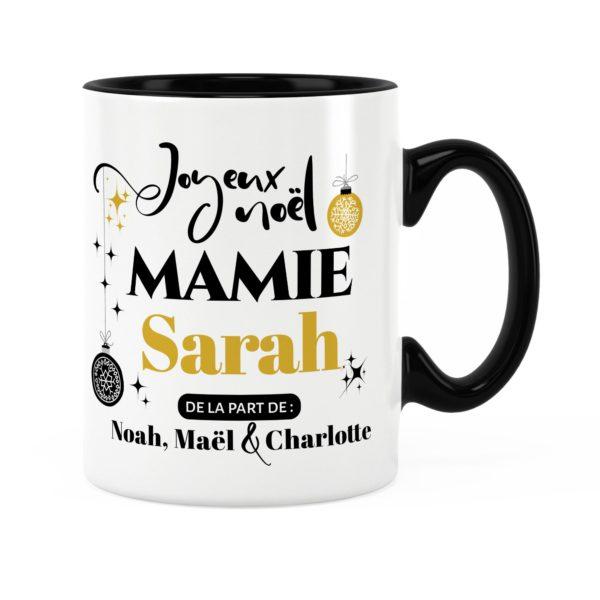 Cadeau pour mamie | Idée cadeau mug joyeux noël avec prénom
