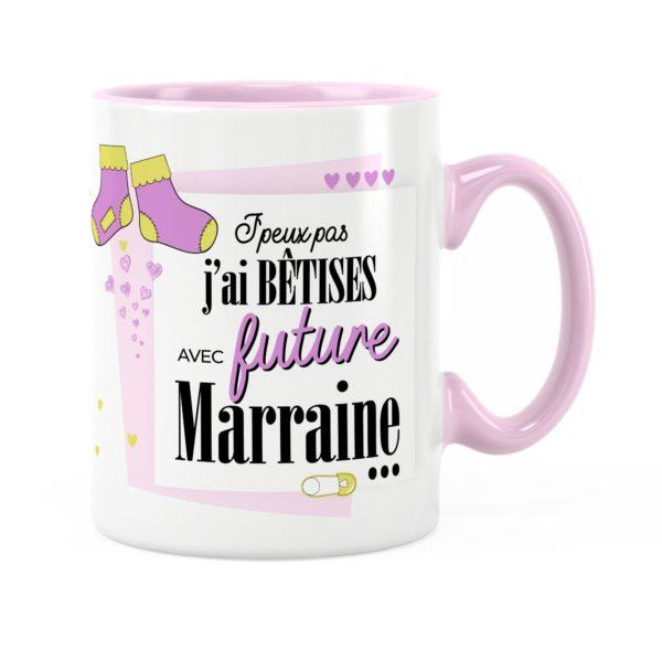 Cadeau marraine | Idée cadeau mug prénom future marraine