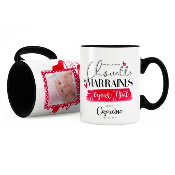 Cadeau noël marraine | Idée cadeau mug chouette marraine