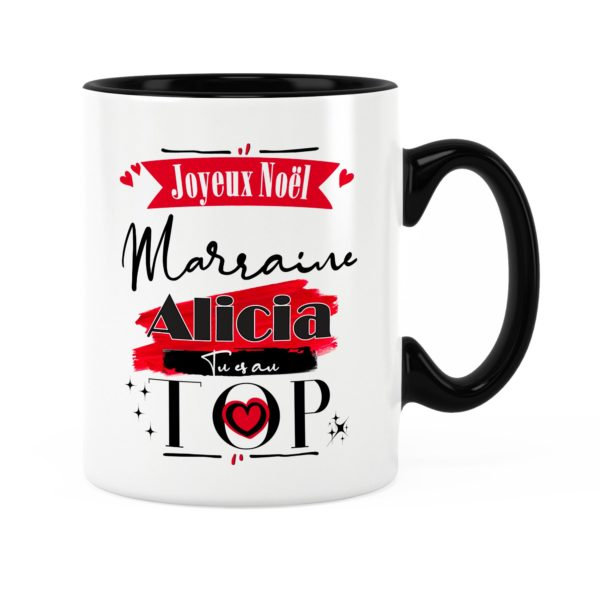 Cadeau marraine | Idée cadeau mug joyeux noël avec prénom