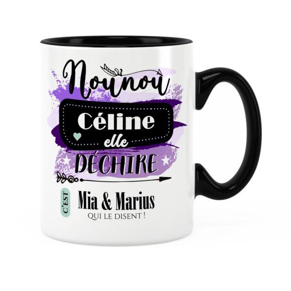 Cadeau nounou | Idée cadeau de mug nounou elle déchire