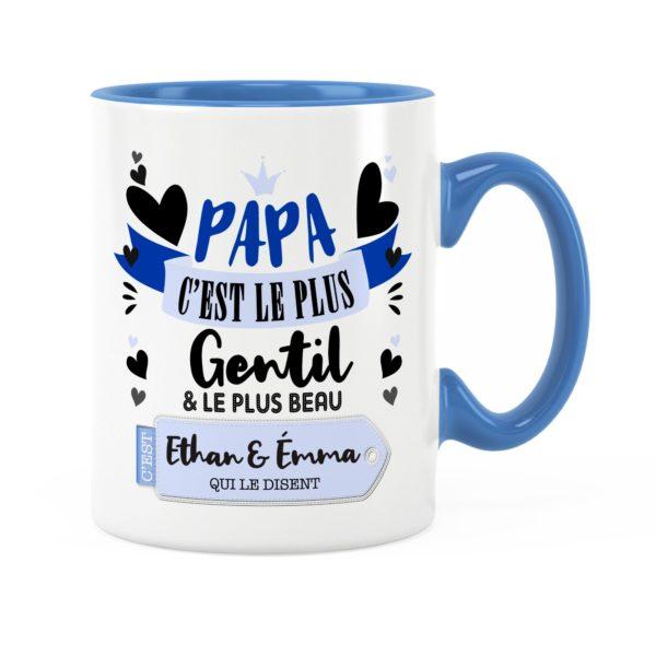 Cadeau papa | Idée cadeau mug prénom papa le plus gentil