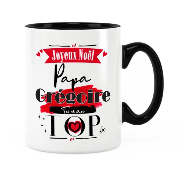 Cadeau papa | Idée cadeau mug joyeux noël avec prénom