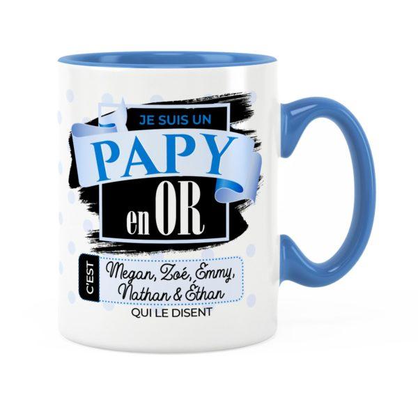 Cadeau papy | Idée cadeau de mug avec prénom papy en or