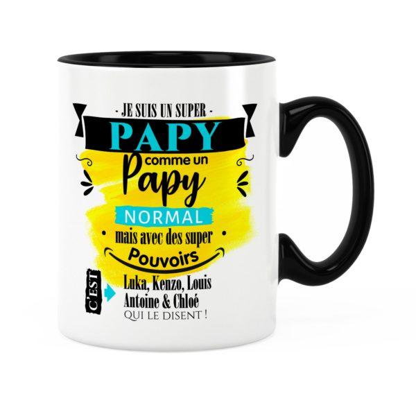 Cadeau pour papy | Idée cadeau de mug papy super pouvoirs