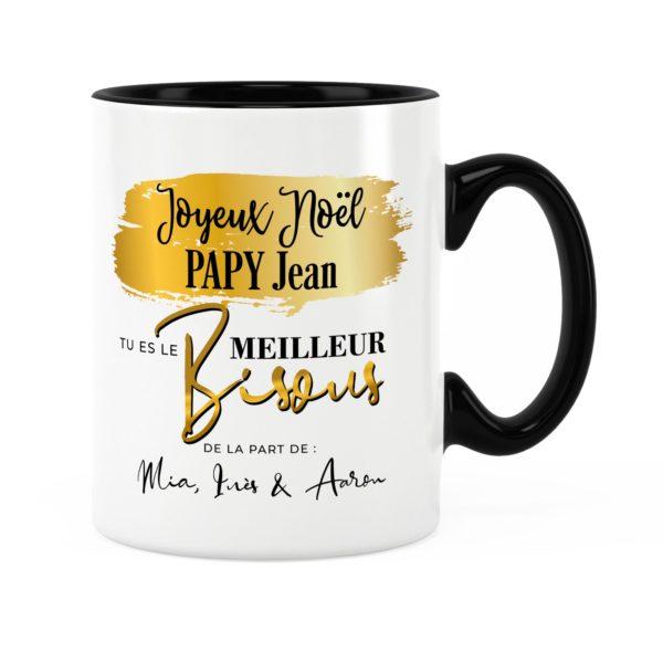 Cadeau noël papy | Idée cadeau mug joyeux noël papy prénom