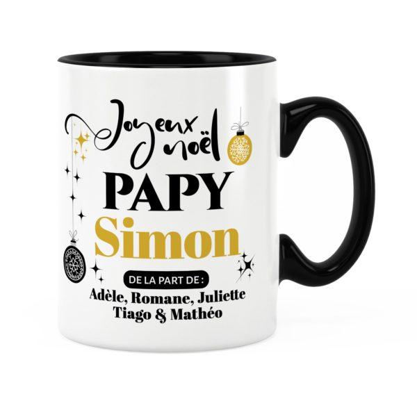 Cadeau pour papy | Idée cadeau mug joyeux noël avec prénom