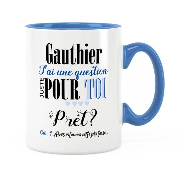 Annonce parrain | Idée cadeau mug prénom annonce parrain