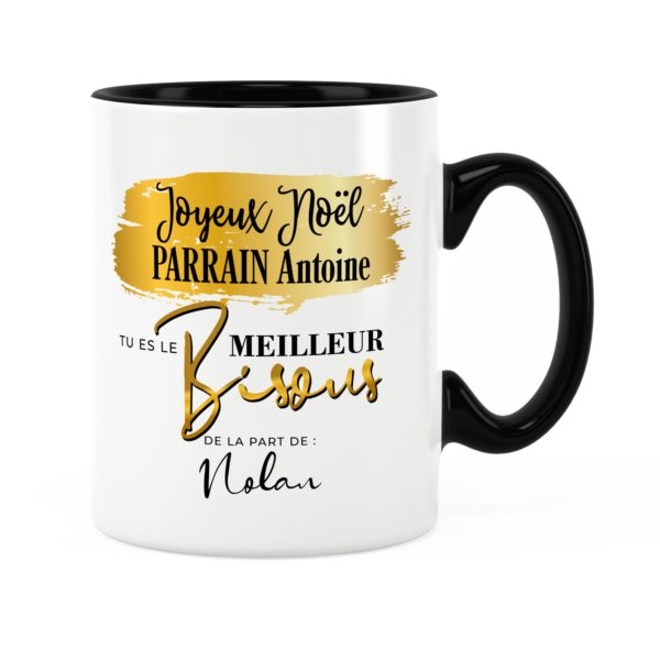 Cadeau noël parrain | Idée cadeau mug parrain avec prénom