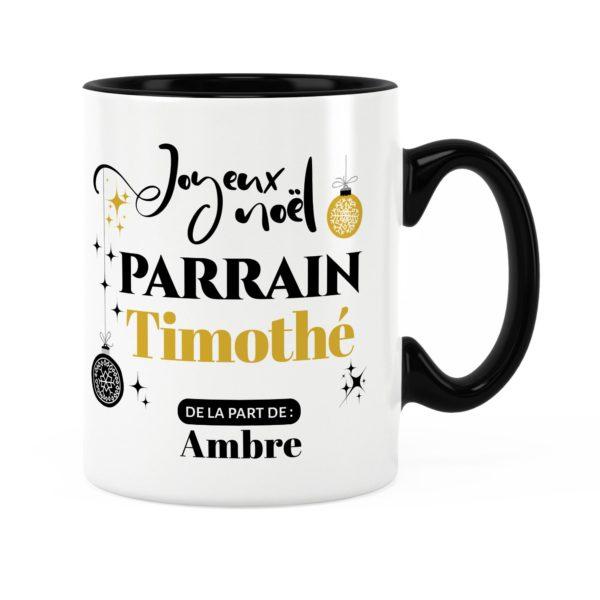 Cadeau pour parrain | Idée cadeau mug joyeux noël prénom