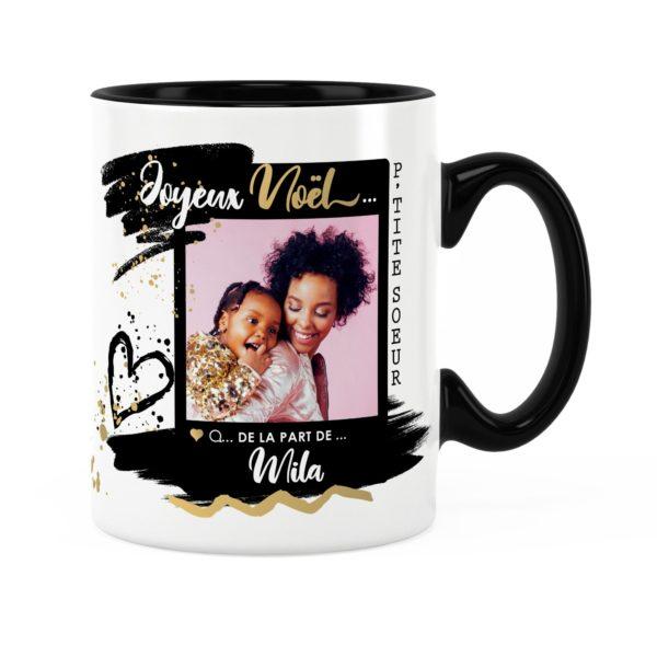 Cadeau petite-sœur pour noël | Idée cadeau mug avec prénom